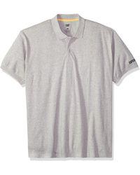 Caterpillar Big-tall Classic Cotton Polo Shirt - Gray