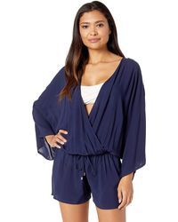 Vince Camuto Cover Up Romper - Blue