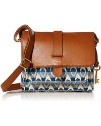Fossil Kinley Fabric Small Crossbody Handbag - Multicolor