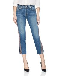Hudson Jeans Jeans Riley Luxe Crop With Raw Hem 5 Pocket Jean - Blue