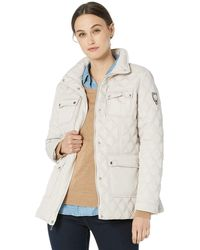 Vince Camuto Patch Pocket Quilted Jacket - Natural