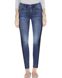 Vince Camuto Two Tone Skinny Jean - Blue