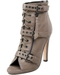 Dolce Vita Vince Open Toe Bootie,taupe,8 M Us - Brown