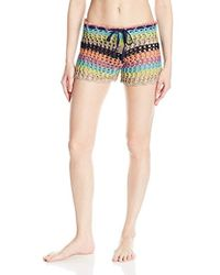 Sperry Top-Sider - Poolside Multi Striped Crochet Shorts Cover Up - Lyst