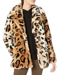 Steve Madden Faux Fur Fashion Jacket - Brown