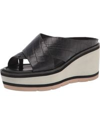 Donald J Pliner Wedge Sandal - Black