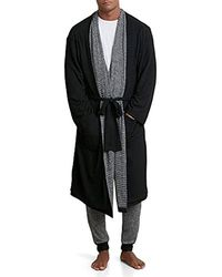 Kenneth Cole Reversible Robe - Black