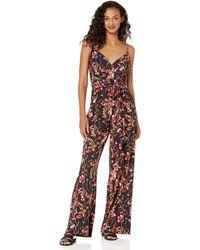 RACHEL Rachel Roy Womens Printed Capri Jumpsuit