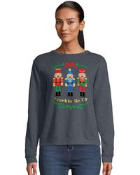 Hanes Ugly Christmas Sweater-crackin Me Up - Gray
