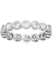 "Judith Jack ""classics"" Sterling Silver/crystal Bezel Set Ring, Size 5 - Metallic"