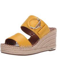 Franco Sarto Charlie Espadrille Wedge Sandal - Yellow