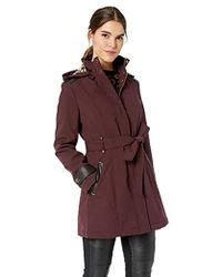Via Spiga - Belted Soft Shell Hooded Jacket With Faux Leopard Lining - Lyst