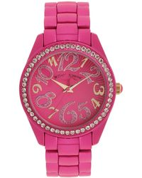 Betsey Johnson Pink Color Spray Watch