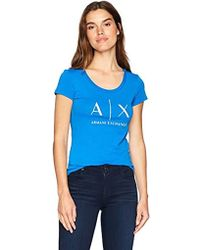 Armani Exchange | X Scoop Logo Tee - Blue