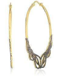 Noir Jewelry - Gowing Hoop Earrings - Lyst