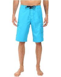 Quiksilver Ic 22 Inch Length Cargo Pocket Boardshort Swim Trunk - Blue