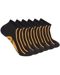 Caterpillar 6-pack Half Cushioned No Show Socks - Black