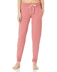 Splendid Lounge Jogger Pant Pajama Bottom Pj - Pink