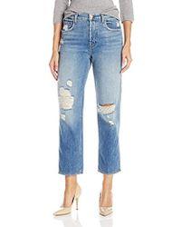 J Brand - Ivy High Rise Crop Straight Jeans - Lyst