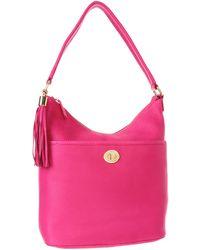 Tommy Hilfiger Turnlock Tassel Pebble Bucket - Pink