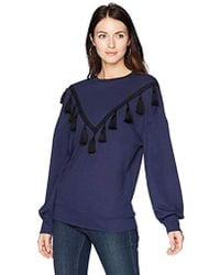 Ella Moon - Hadley Tassel Trim Volume Sleeve Top - Lyst