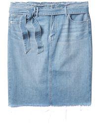 Sam Edelman Riley High Waisted Skirt - Blue