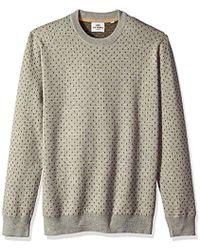 Ben Sherman Tipping Geo Crew Sweater - White