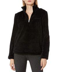 Jockey Echo Sherpa Half Zip Pullover - Black