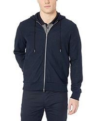 Theory - Essential Cotton Stretch Zip Hoodie - Lyst