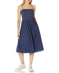 Goodthreads Georgette Smock-Back Cami Midi Dress Dresses - Blu