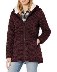 Steve Madden Quilted Anorak With Hood - Multicolour