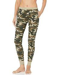 Mae Amazon Brand - Cotton Modal Jogger Legging Lounge Pant - Green
