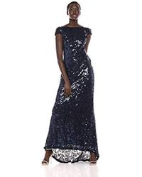 Calvin Klein - Cap-sleeve Sequin Gown - Lyst
