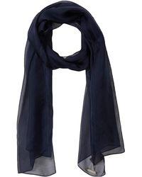 Vince Camuto Classic Silk Wrap - Blue