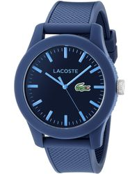 Lacoste 2010765 .12.12 Blue Resin Watch With Textured Silicone Band