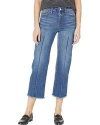 Sam Edelman Chelsea High-rise Wide Leg Crop Jeans In Thula - Blue