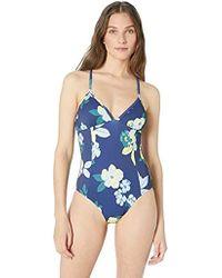 Splendid - Crisscross One Piece Swimsuit - Lyst