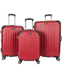 "Kenneth Cole Reaction Renegade 16"" Hardside Expandable 4-wheel Spinner Mini Carry-on Luggage - Red"
