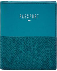 Fossil Passport Case - Blue