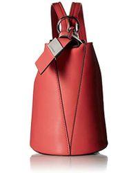 Calvin Klein - Karsyn Nappa Leather 3 In 1 Convertible Bucket - Lyst
