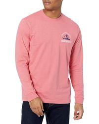 Izod Saltwater Long Sleeve Graphic T-shirt - Pink
