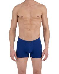 Perry Ellis 4 Pack Covered Waistband Boxer Briefs - Blue