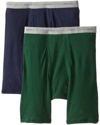 Hanes 2-pack Long Leg Boxer Briefs - Green