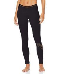 Emporio Armani Stretch Cotton Leggings - Black