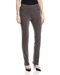 Rafaella Slim Ponte Comfort Pant - Gray