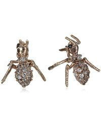 Tai - Antique Gold Post Stud Earrings - Lyst