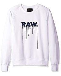 G-Star RAW - Daefon Raglan Roundneck Sweater Long Sleeve - Lyst