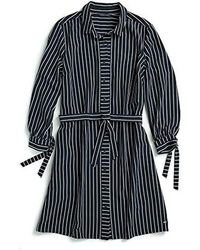 Tommy Hilfiger Adaptive Shirt Dress With Magnetic Buttons - Blue
