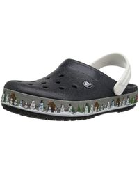Crocs™ Crocband Holiday Clog,black,10 Us / 12 Us