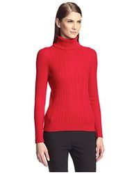 SOCIETY NEW YORK - Cable Turtleneck Sweater - Lyst